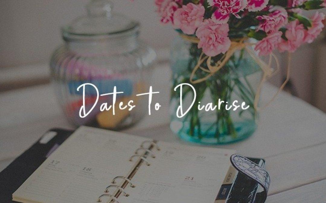 Dates to Diarise 2019